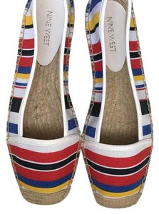 Nine West White, yellow, red, blue and black Flats