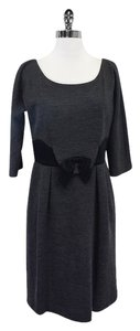 MILLY short dress Grey Wool Waist Bow on Tradesy