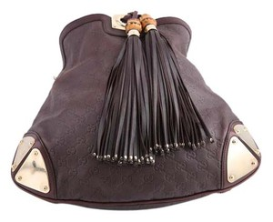 Gucci Leather Fringe Hobo Bag