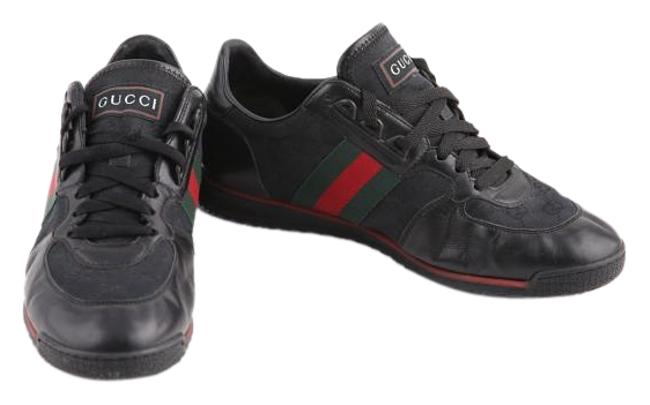 Gucci Black 'sl73' Lace-up Trainer with Signature Web Sneakers Size US 7 Regular (M, B) Gucci Black 'sl73' Lace-up Trainer with Signature Web Sneakers Size US 7 Regular (M, B) Image 1