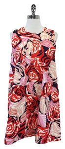MSGM short dress Pink & Red Floral Cotton on Tradesy