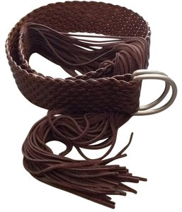 Banana Republic Woven Leather Belt With Fringe