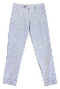 Vince Grey Linen Cotton Blend Trouser Pants