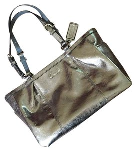Coach Satchel in Silver/pewter
