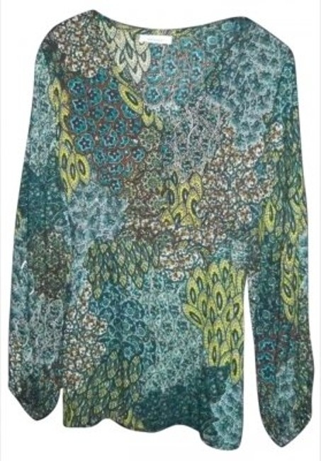 Preload https://item4.tradesy.com/images/dress-barn-aquabrownturquoise-button-down-top-size-12-l-172278-0-0.jpg?width=400&height=650