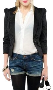 Juicy Couture Ruffle Black Blazer