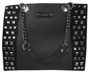 Rock Rebel Studded Large Studded Gothic Chic Tote in Black