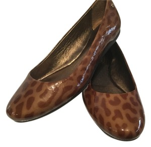 Coach Jaguar Design Patent Leather Brown Flats