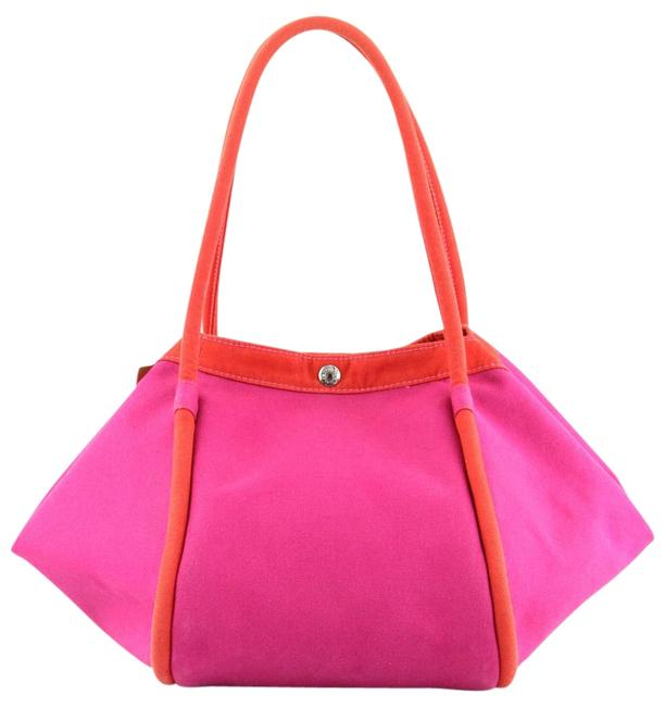 Item - Sac De Plage Pink/Red Canvas Tote
