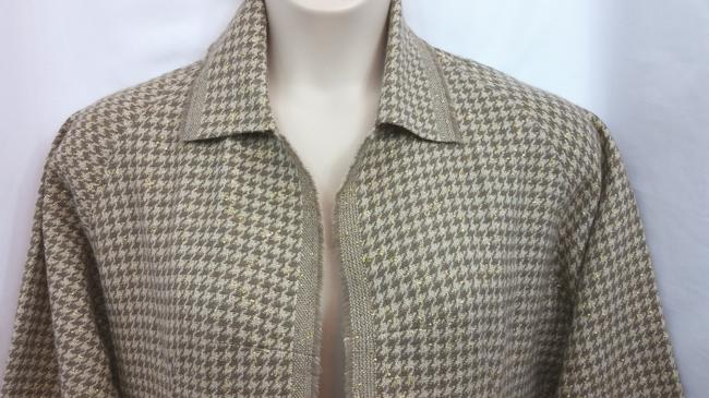 shamask Knit Wool Jacket BROWN Blazer Image 1