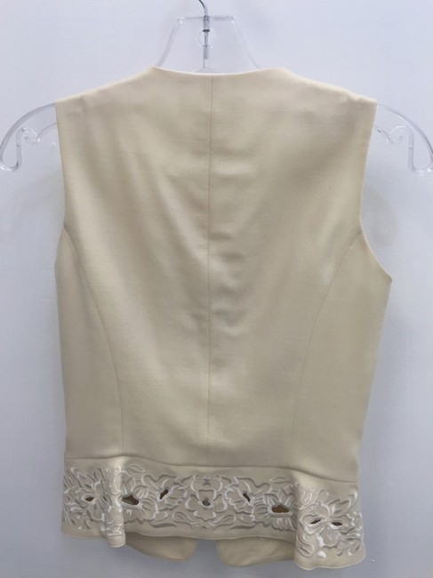 Escada Floral Embroidered Perforated Vest Image 1
