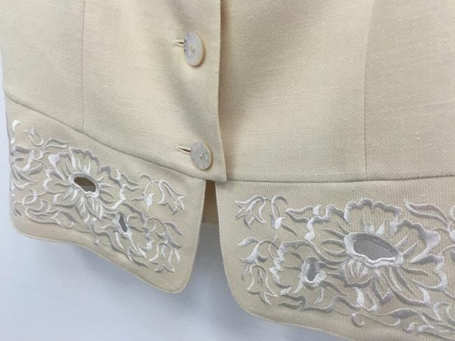 Escada Floral Embroidered Perforated Vest Image 2