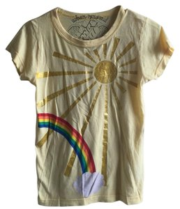 Urban Renewal Rianbow Sun Urban Outfitters T Shirt Yellow