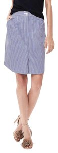 Banana Republic Mini Skirt Stripes blue and white