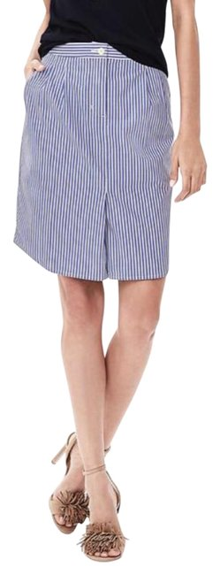 Banana Republic Stripes Blue and White Shirttail Pencil Skirt Size 2 (XS, 26) Banana Republic Stripes Blue and White Shirttail Pencil Skirt Size 2 (XS, 26) Image 1