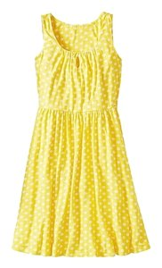 Hanna Andersson short dress Yellow Polka Dot Keyhole Slipover on Tradesy