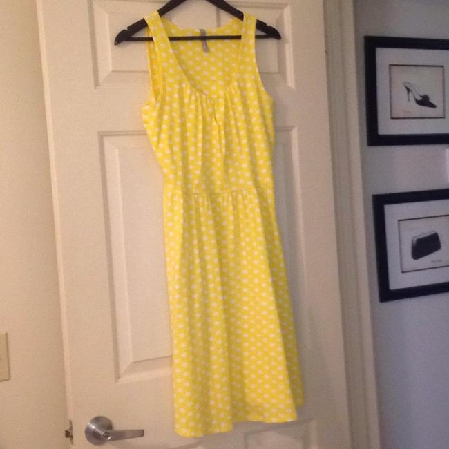 Hanna Andersson short dress Yellow Polka Dot Keyhole Slipover on Tradesy Image 1