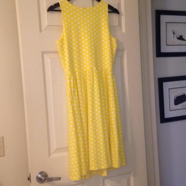 Hanna Andersson short dress Yellow Polka Dot Keyhole Slipover on Tradesy Image 2