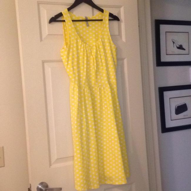 Hanna Andersson short dress Yellow Polka Dot Keyhole Slipover on Tradesy Image 5