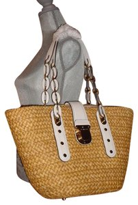 Michael Kors Mk Kate Spade Chanel Tote in white/natural