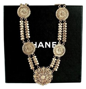 Chanel Chanel Vintage Necklace Etruscan Filigree Lion Medallions Rare