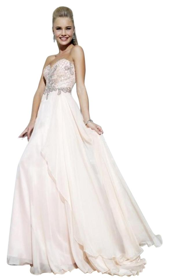 c94db96fd517d Sherri Hill Light Pink 3895 Long Formal Dress Size 18 (XL, Plus 0x ...
