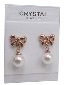 Other Rosetone Bows and Faux Pearl Studs w Free Shipping