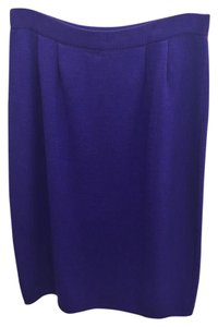 St. John Knit Skirt Purple
