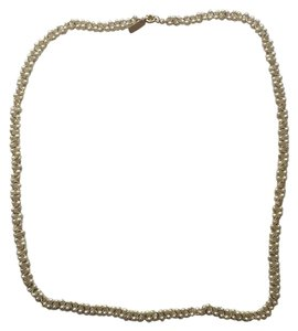 Madewell white beaded necklace