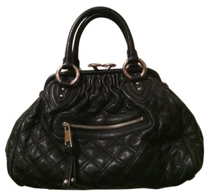 Marc Jacobs Caviar Leather Satchel in Black
