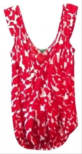United Colors of Benetton Top red/white flower print