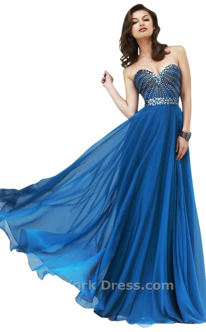 Sherri Hill Prom Homecoming Plus Size Navy Dress Image 0
