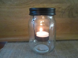 10 New Mason Jar Candle Holders Pint Size