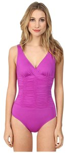 Badgley Mischka Badgley Mischka Solids Smocked Mio Swimsuit