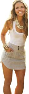 Other short dress White Mini Tank Beach Sleeveless on Tradesy