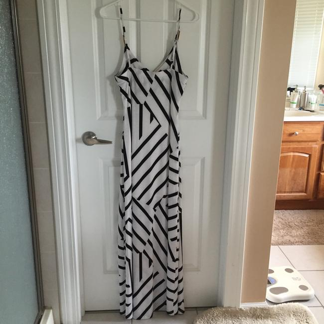White and black Maxi Dress by Sevengate Image 1