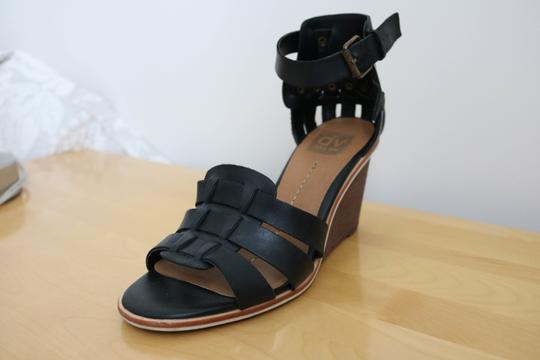 DV by Dolce Vita Studded Leather Black Wedges Image 1