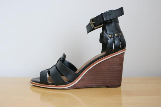 DV by Dolce Vita Studded Leather Black Wedges Image 2