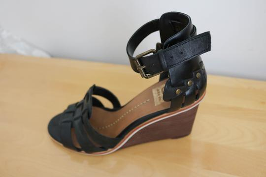 DV by Dolce Vita Studded Leather Black Wedges Image 4