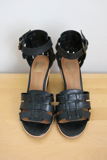 DV by Dolce Vita Studded Leather Black Wedges Image 5