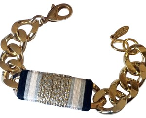 Ettika Ettika Gold ID Bracelet with Silk Thread