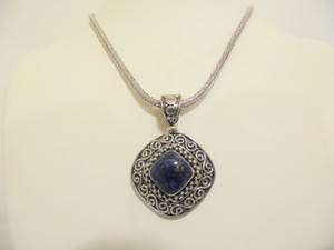 Other Artisan Crafted Sterling Silver Lapis Pendant w/Chain