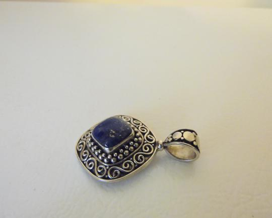 Other Artisan Crafted Sterling Silver Lapis Pendant w/Chain Image 1