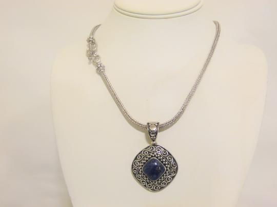 Other Artisan Crafted Sterling Silver Lapis Pendant w/Chain Image 10