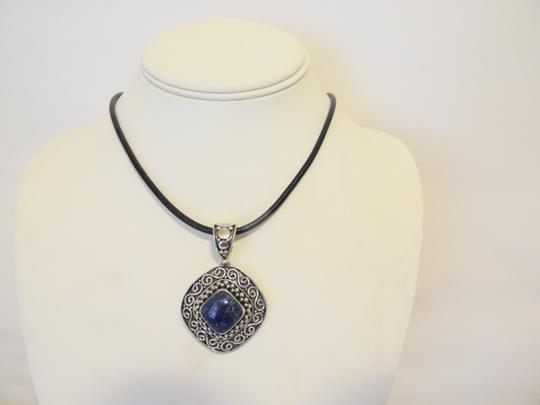 Other Artisan Crafted Sterling Silver Lapis Pendant w/Chain Image 3