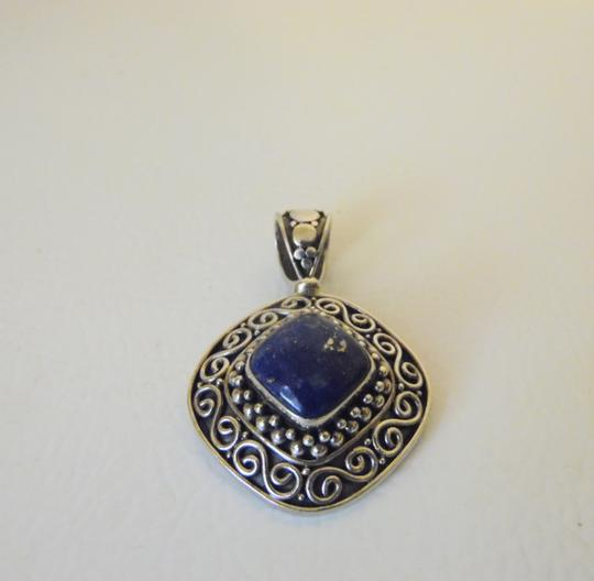 Other Artisan Crafted Sterling Silver Lapis Pendant w/Chain Image 4