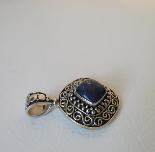 Other Artisan Crafted Sterling Silver Lapis Pendant w/Chain Image 5