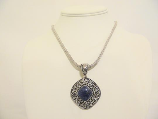 Other Artisan Crafted Sterling Silver Lapis Pendant w/Chain Image 8