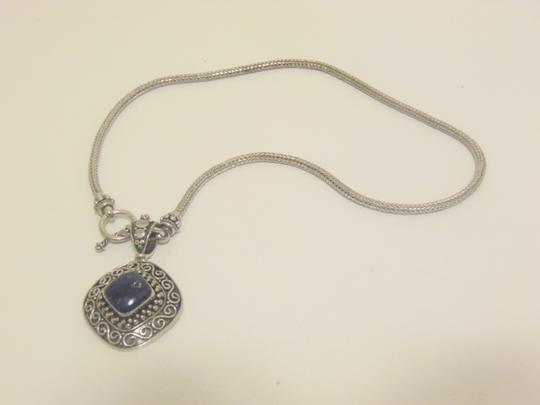Other Artisan Crafted Sterling Silver Lapis Pendant w/Chain Image 9