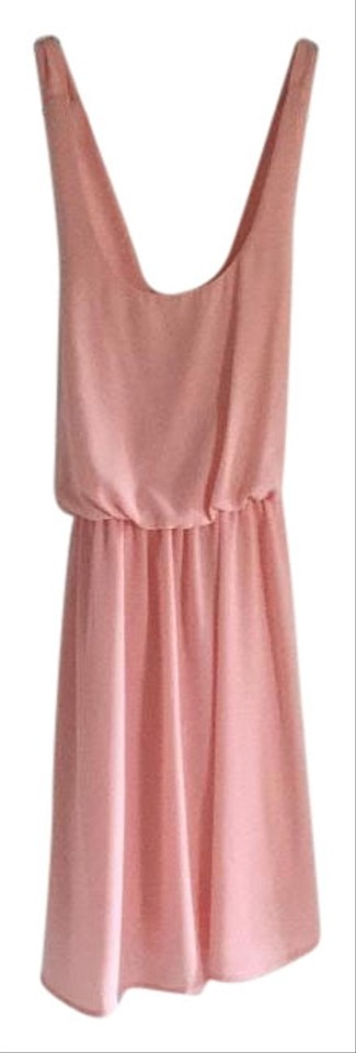 Coveted clothing light pink above knee short casual dress for Pastel pink dress shirt